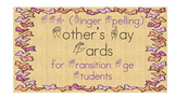 Mother's Day Cards ASL For Transition Age Students SPED/DHH/OHI