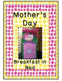 Mother's Day Craft Craftivity Gift Breakfast in Bed - QUIC
