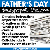 Father's Day Newspaper Article (writing options, template,