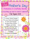 Mother's Day: Print-n-Go Craftivity Pack for Kids of All Ages