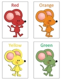 Mouse Paint Color Flash Cards