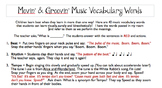 Movin' and Groovin' Music Vocabulary Words