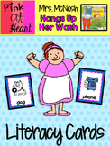 """""""Mrs. McNosh Hangs Up Her Wash"""" - Literacy Cards"""
