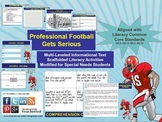 Multi-Leveled: FOOTBALL Constructed Response Practice RI 6.1