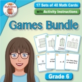 BONUS BUNDLE: Grade 6 Multi-Match Math Games for Common Core