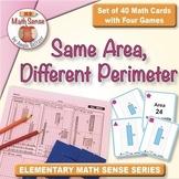 Multi-Match Cards 3M: Same Area, Different Perimeter (Rectangles)