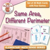 Multi-Match Cards 3M: Same Area, Different Perimeter (Rectangles)