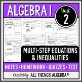 Algebra 1: Multi-Step Equations & Inequalities (Unit 2) -