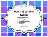 Multi-step Equation Maze
