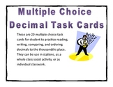 Multiple Choice Decimal Task Cards