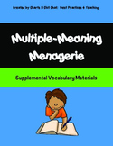 Multiple Meaning Words Graphic Organizers