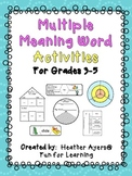 Multiple Meaning Word Activities For Any Text {grades 3-5}
