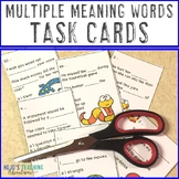 Multiple Meaning Word Multiple Choice Questions