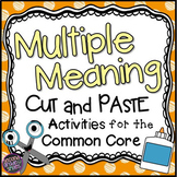 Multiple Meaning Words: Cut and Paste Activities