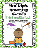 Multiple Meaning Words- No Prep Pack
