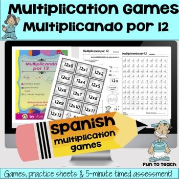 Multiplicando Por 12 - Spanish Multiplication Math Games/L