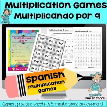 Multiplicando Por 9 - Spanish Multiplication Math Games/Le