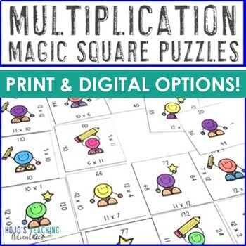 Multiplication 0-12 Magic Squares