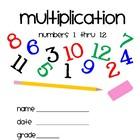 Multiplication 1 thru 12