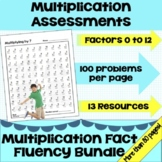 Multiplication 5-Minute Timed Tests Factors 0-12 Package -
