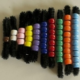 Multiplication Beads - Manipulative to help students see m