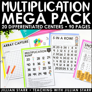 Multiplication Centers Mega Pack- 70 Pages of Games & Activities