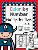 Multiplication - Color by Number