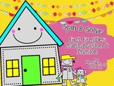 Multiplication & Division Fact Family Spin & Solve (with Q