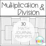 Multiplication & Division Math Journal Prompts {Common Cor