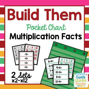 Multiplication Facts: Build Them Pocket Charts