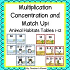 Multiplication Games- Multipication Concentration - Animal