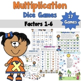 Multiplication Dice Games -Factors 1-6