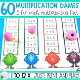Multiplication Games and Interactive Worksheets - No Prep