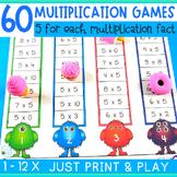 Multiplication Games and Interactive Worksheets - No Prep
