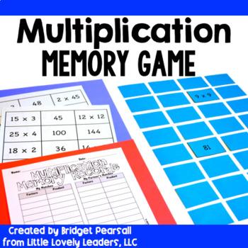 Multiplication Memory Game or Center