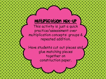 Multiplication Mix Up Sort FREEBIE!!!!
