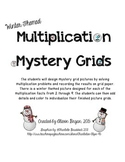 Multiplication Mystery Grids- Winter Themed