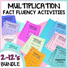 Multiplication Facts Number Sense Intervention Tasks~BUNDLE PACK