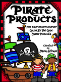 Multiplication: Pirate Products ~ 2 Digit by 1 Digit Color