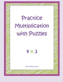Multiplication Practice with Puzzles