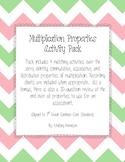 Multiplication Properties Activity Pack