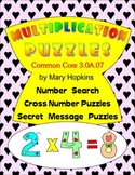 Multiplication Puzzles - 3rd. Grade Common Core Standard 3.0A.07.