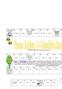 Multiplication Race Games x 3 - 3 pages
