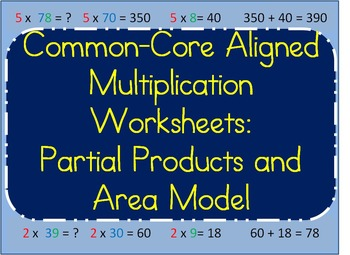 Multiplication Strategy-Breaking Numbers Apart to Multiply