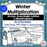 Multiplication Task Cards ~ Winter