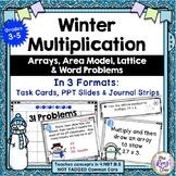 Multiplication Task Cards ~ Winter