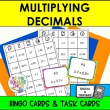 Multiplying Decimals Bingo and Task Cards, CCS: 5.NBT.B7, 6.NS.3