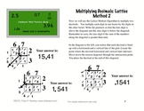 Multiplying Decimals Study Guide: Traditional & Lattice Method