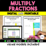 Multiplying Fractions Packet - 5.NF.4 Visual Models included