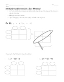 Multiplying Polynomials (Binomials- FOIL)